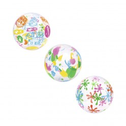 Мяч пляжный надувной 51см микс цветов