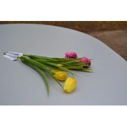 Цветок искусственный Рябчик шахматный 30см микс KDGC536
