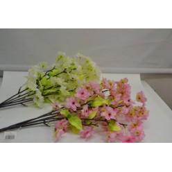 Цветок искусственный Яблоневый цвет двухцветный №50.05