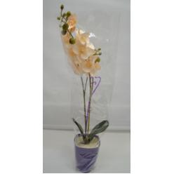 Орхидея в горшке композиция искусственная