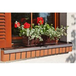 Ящик балконный Братек 800 пластмассовый мокко 348