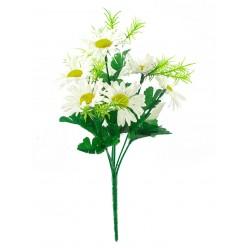 Цветок искусственный Ромашка крупная букет №56.05