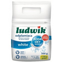 """Пятновыводитель для белых тканей порошок white порошок """"Ludwik"""",  500г+150г бесплатно"""