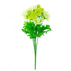 Цветок искусственный Ромашка букет х7, 35см микс цветов