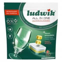 Таблетки All in one для посудомоечных машин GRAPEFRUIT Ludwik 80 шт Doypack