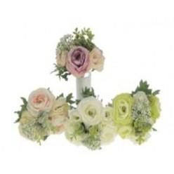 Цветок искусственный Камелия 25 см, букет, микс цветов