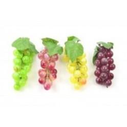 Плод искусственный Виноград ветка 14 см, микc цветов