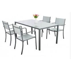 Набор мебели садовой - столик/ANH0884/ + 4 кресла/ANH0877/ ANH0884