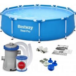 Бассейн каркасный 305х76м (бассейн, насос фильтрующий) BES56679