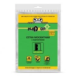Сетка москитная с крепежом 0,95*2м с магнитами, в пакете, узор Nadzor MSN020MPU