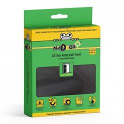 Сетка москитная с крепежом 0,95*2м с магнитами, в коробочке, черная MSN020M