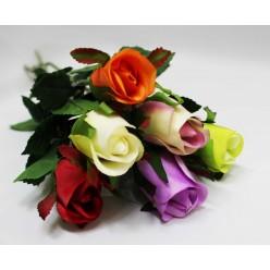 Цветок искусуственный Роза одиночная 55см
