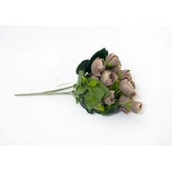 Цветок искусственная Камелия букет микс № 476