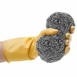 Перчатки хозяйственные латексные сверхпрочные тм Komfi, натуральный, размер  L