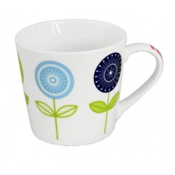 Чашка фарфоровая Цветы 415 мл 8982