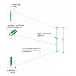 Колышек для подвязки металлический 75.1.0
