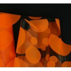 Фольга прозрачная с рисунком шарики оранжевые M0024-02