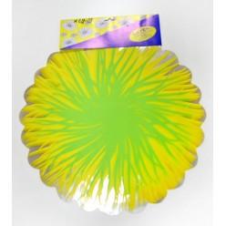 Фольга салфетка жёлто-салатовая M0028