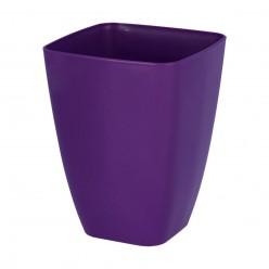 Кашпо пластмассовое Орхидея 13 квадрат фиолетовый 0300-005