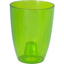 Кашпо пластмассовое Вулкано для орхидей зеленый 2495-T02
