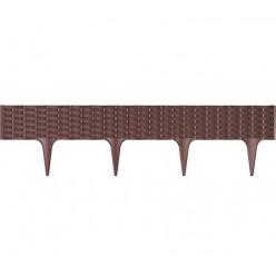Бордюр садовый пластиковый GARDEN BORDER коричневый 3,9м h18,7см