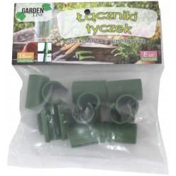 Соединитель для садовых опор двойной диаметром 11мм  6шт/уп DEN6430