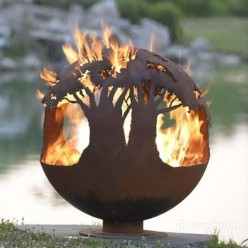 Очаг-шар Деревья в огне, арт. BF904