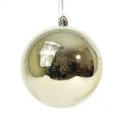 Шары ёлочные серебро 10 см 6шт/уп S664-03