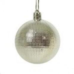 Шары ёлочные серебро 6см 6шт/уп S649-03