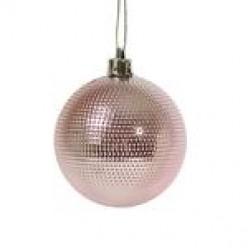 Шары ёлочные розовые 6см 6шт/уп S649-05