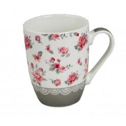 Чашка фарфоровая Цветы 345мл 8852