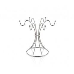 Сушилка для чашек хромированная 15x24x23,5 см 6 крючков 2096