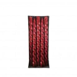 Свеча высокая спираль красная (10шт/уп) арт. 802056