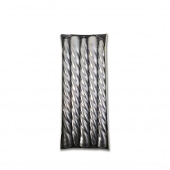 Свеча высокая спираль серебро (10шт/уп) арт. 802063