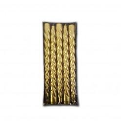 Свеча высокая спираль золото (10шт/уп) арт. 802064