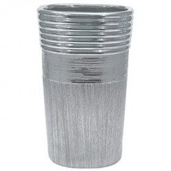 Ваза керамич. серебро 24,5 см арт. WS24