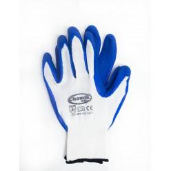 Перчатки защитные (п/э.латекс), размер 9, микс