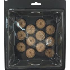 Мини-теплица с торфяными таблетками (12шт) 21,5х18,5х6,5см EDA8549