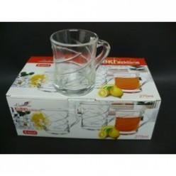 Набор стеклянных чашек для напитков 6шт/уп  270мл SCT1656