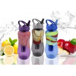 Бутылка пластмассовая с вкладышем для льда 650мл микс ACH9959