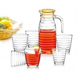Набор стеклянный кувшин 1,15 л + 6 стаканов 240мл SCT0399