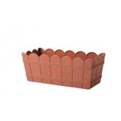 Ящик балконный древоподобный 55 см терракотовый 2739-010