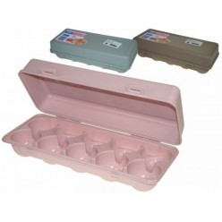 Емкость пластмассовая для яиц 26х11,5см микс LUXL-404