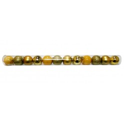 Шары ёлочные пластиковые, цвет золото TG22256-2, 12 шт/уп