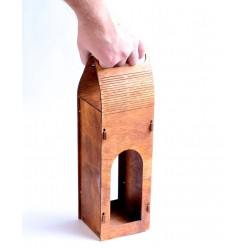 Футляр для шампанского (для вина) деревянный с ручками