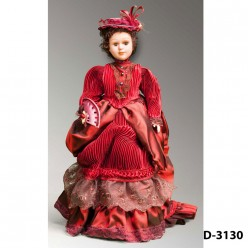 Кукла декоративная фарфоровая в ассортименте, 31 см.