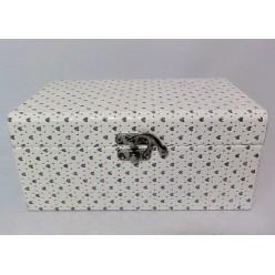 Шкатулка для бижутерии 20х12х9 см белая