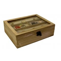 Шкатулка для рукоделия и шитья деревянная