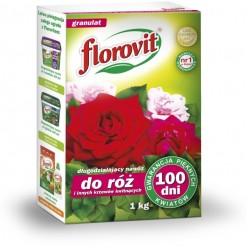 Удобрение Флоровит для роз и других цветущих кустарников длительного действия 100 дней 1кг, коробка