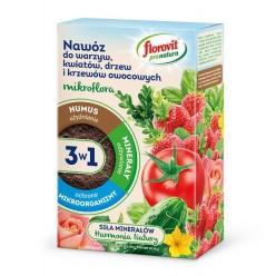 Удобрение Флоровит Про Натура Микрофлора 3в1  для овощей, цветов и плодовых гран.1кг, коробка